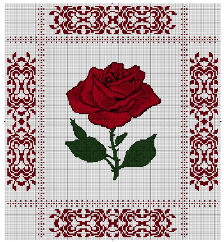Hooker Magic: Queen Size Rose Bed Cover