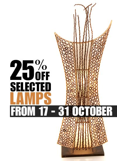Gorgeous hand crafted, fair trade lighting with 25% off selected lamps until 31 Oct 16 at https://fairtradelifestyle.co.uk/Special_Offers