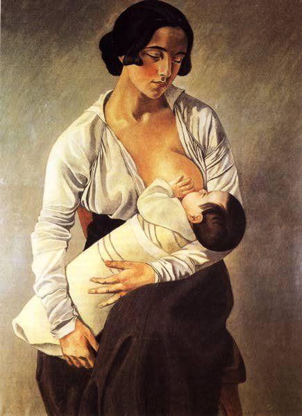 """(Felice Casorati - Mamma) invece si tratta di """"Maternità """" di Gino Severini."""