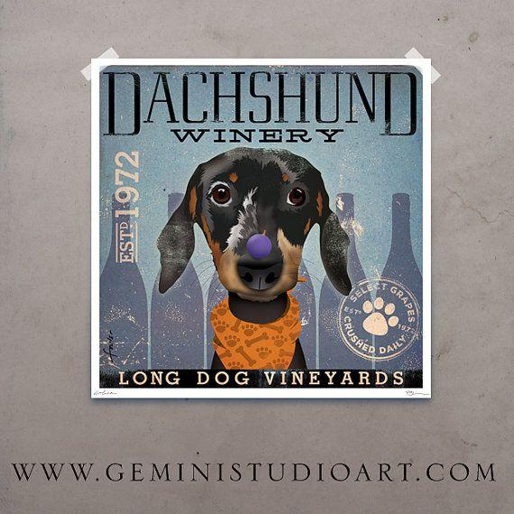 Hey, I found this really awesome Etsy listing at https://www.etsy.com/listing/79857005/dachshund-dog-winery-artwork-original