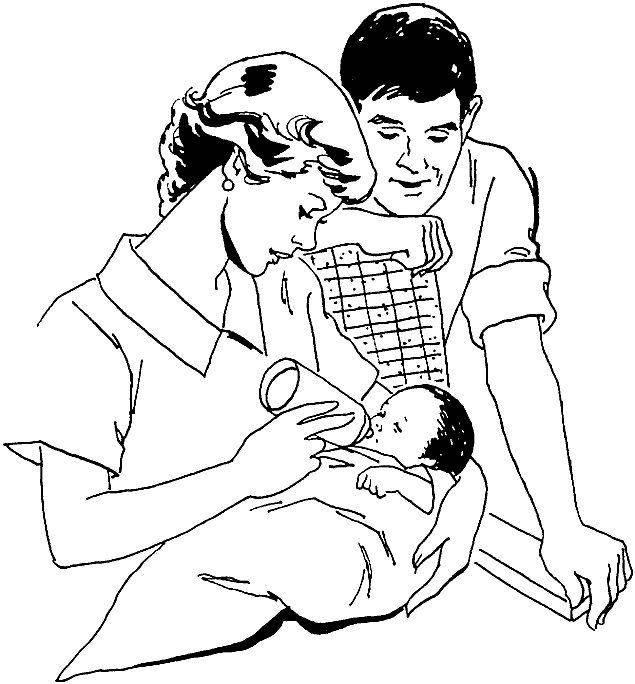 Baby Coloring Pages For Girls