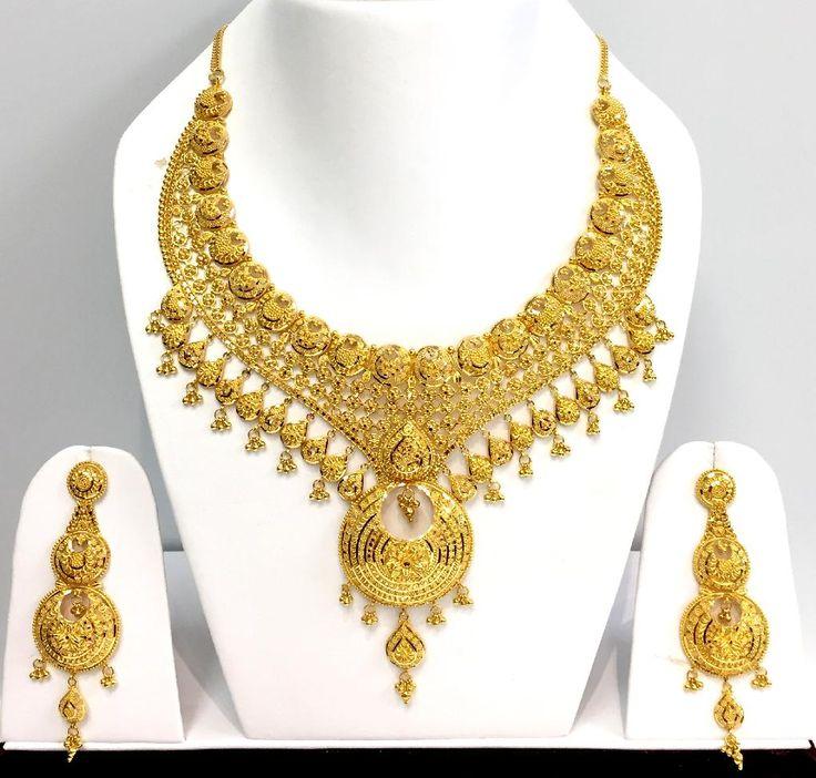 22ct Indian Gold Pendant Set 993 99: Best 25+ Indian Gold Necklace Ideas On Pinterest