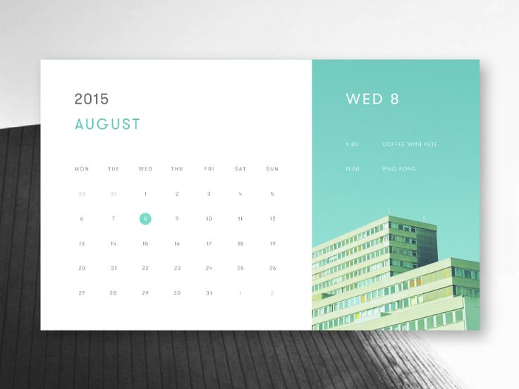 Minimal calendar widget.