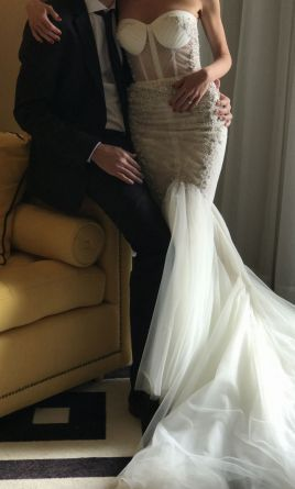 Inbal Dror wedding dress currently for sale at 54% off retail.