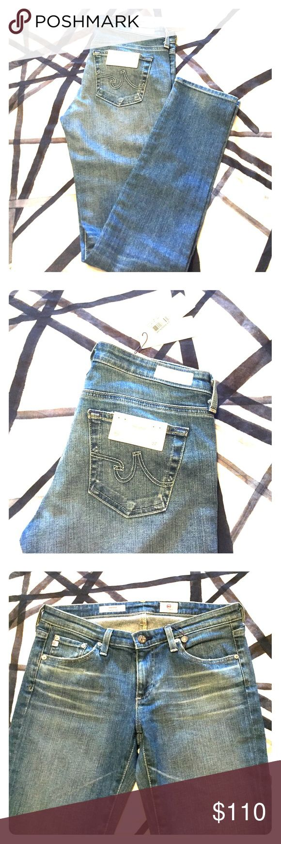 """NWT!!!! AG Denim! The Stilt. Cigarette leg. 30"""" inseam. Never worn or washed, all tags on! 14 years sand wash. Price is firm AG Jeans Skinny"""
