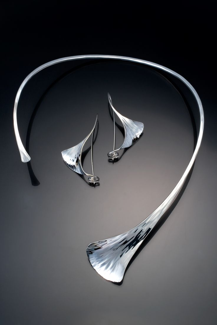 Ginkgo Necklace by Stephen LeBlanc – (Silver Neckpiece)
