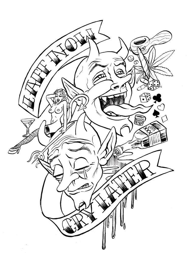 Coloring pages of random designs ~ 30 best random images on Pinterest | Tattoo ideas, Skull ...