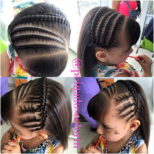 Cute little girl braided hairstyles Niñas