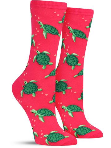 Turtle Socks // I bought these because they are SO CUTE but I have to pay attention to which shoes I wear them with - they SQUEAK inside my shoes!