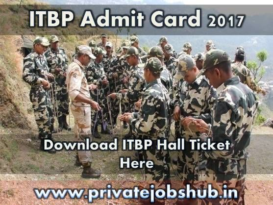 It's time to get ready for ITBP Inspector Exam!!! Download your ITBP Admit Card immediately!!! Indo Tibetan Border Police Recruitment Board is going to conduct the examination to fill the 683 Inspector posts.   http://www.privatejobshub.in/2012/04/itbp-admit-card-2012-itbp-hall-tickets.html