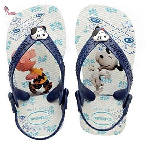 Havaianas Imprimee Tongs Bebe Snoopy White/Navy Blue-EU :22-BR:20 - Chaussures havaianas (*Partner-Link)