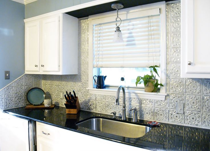 Delightful Easy, DIY Kitchen Backsplashes That Cost Less Than $100 On Average. #tin #