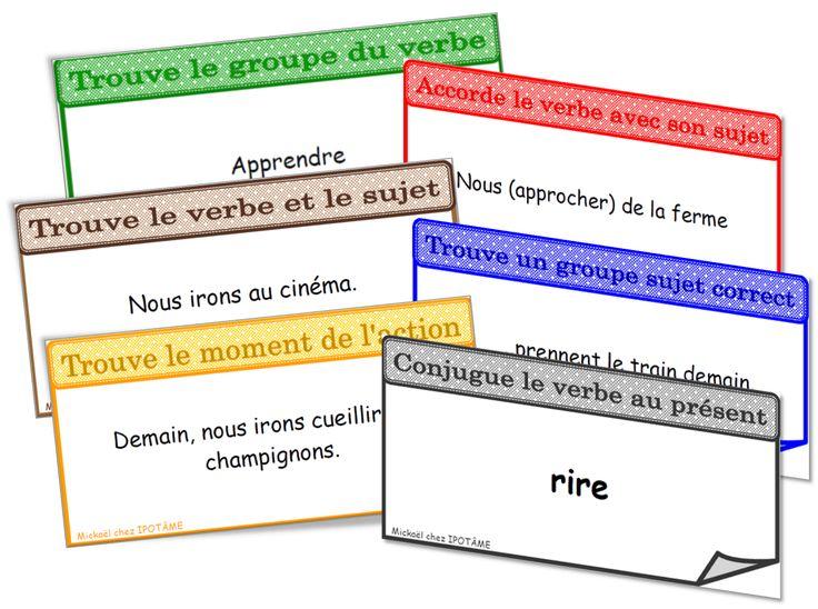 IPOTÂME ....TÂME: CE2 : jeu conjugaison grammaire