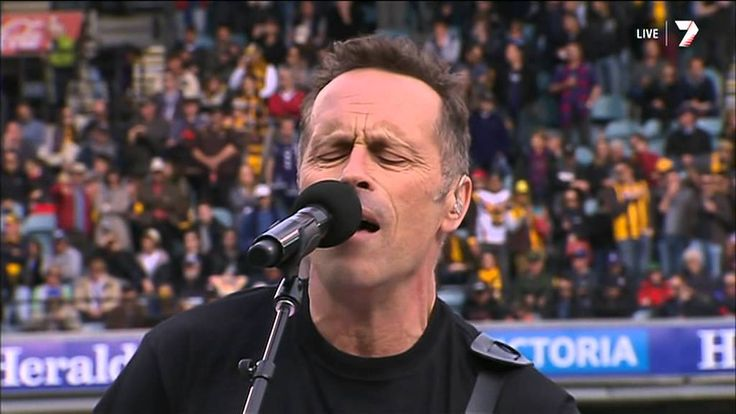 Mark Seymour along with Hunters And Collectors perform live at the AFL Grand Final half time show, amazing! #MSCT