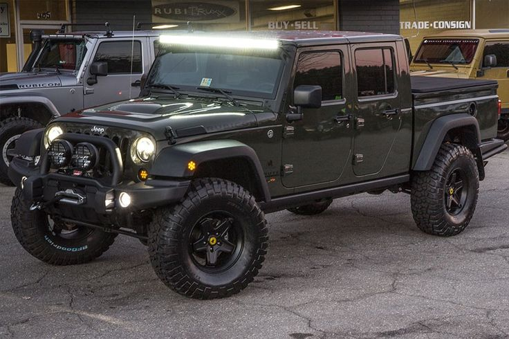 Custom 2015 Jeep Wrangler Brute Double Cab 6.4L HEMI Conversion 37-Inch BFG KM2 Tires AEV Black Pintler Wheels Custom Leather Interior