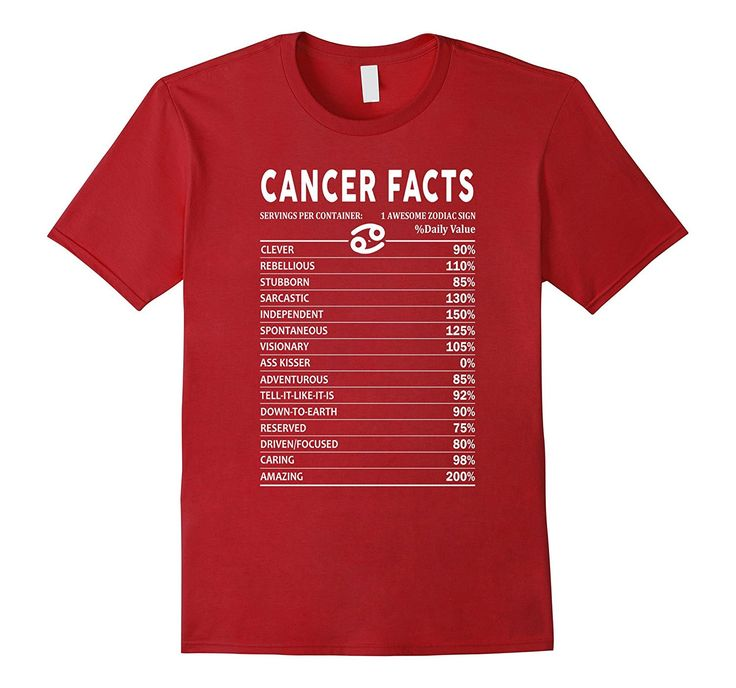 Cancer Facts Funny Cancer Zodiac Shirts