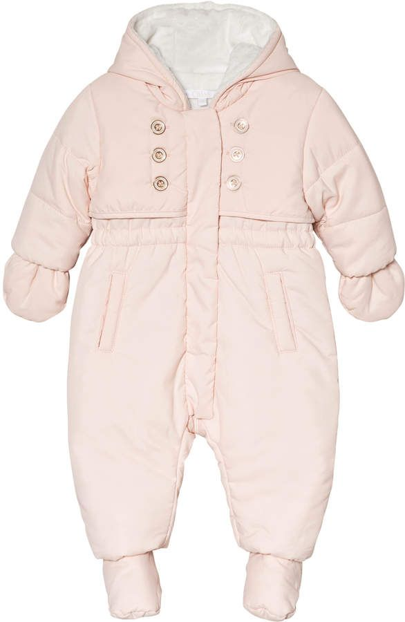 41018f5d6 Pink Hooded Padded Snowsuit with Faux Fur Lining #Cut#waterproof#material
