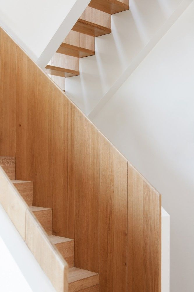 | STAIRS | adore the simple detailing of white oak meets white ... Photo Credit: House Breukelen / #ZeccArchitects featured on #archdaily