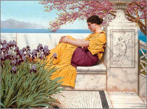 Under the Blossom that Hangs on the Bough John William Godward