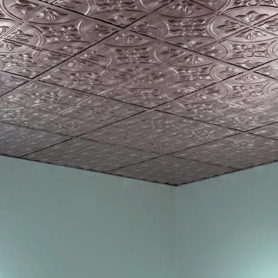 tin ceiling tiles instead of the basic drop ceiling home depot