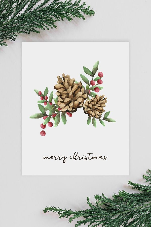 Free Christmas Watercolour Animals Printables Christmas Berries