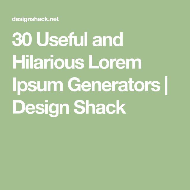 30 Useful and Hilarious Lorem Ipsum Generators | Design Shack