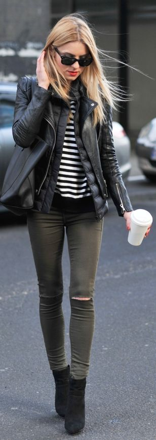 Casual Chic Winter Outfit by Make Life Easier S. Leather Jacket