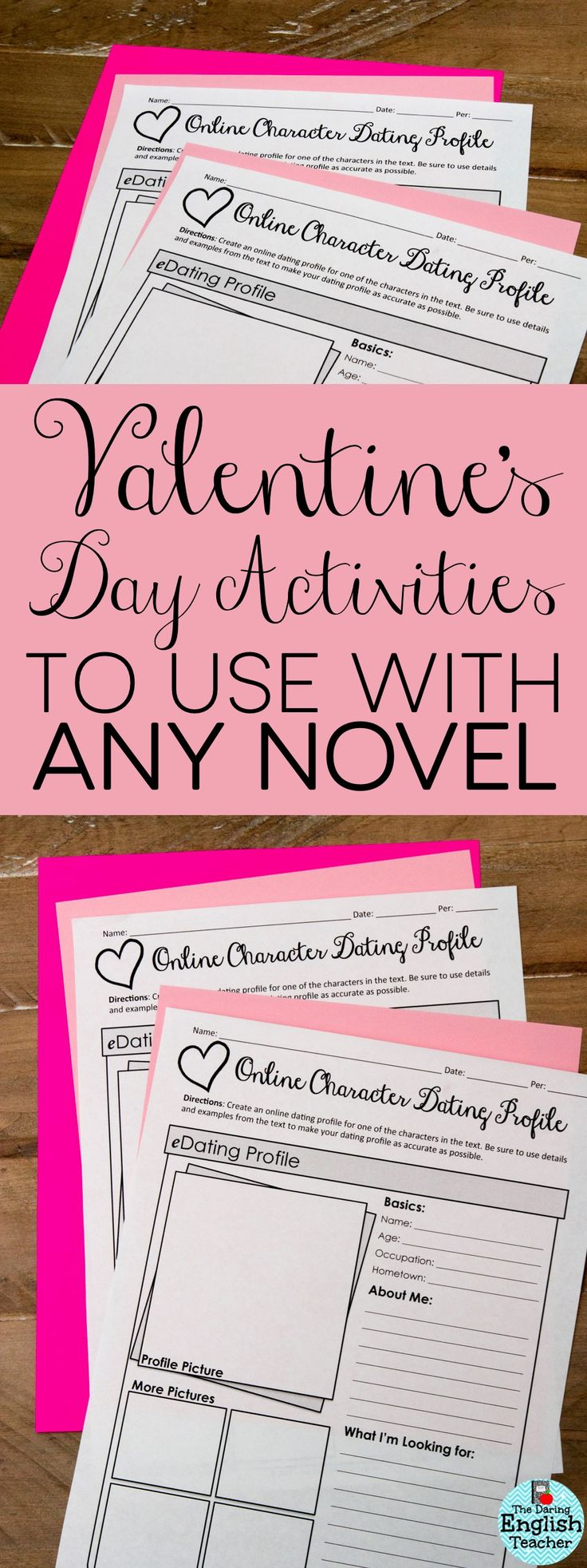 These three Valentine's Day activities can be incorporated into any novel unit you are currently teaching. Have fun with Valentine's Day in middle school ELA and high school English.