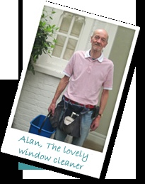 Alan,the lovely window cleaner, http://www.almostessential.com/caro-miche.html: Alan The Lovely, Window Cleaner, Essential, Windows, Tips