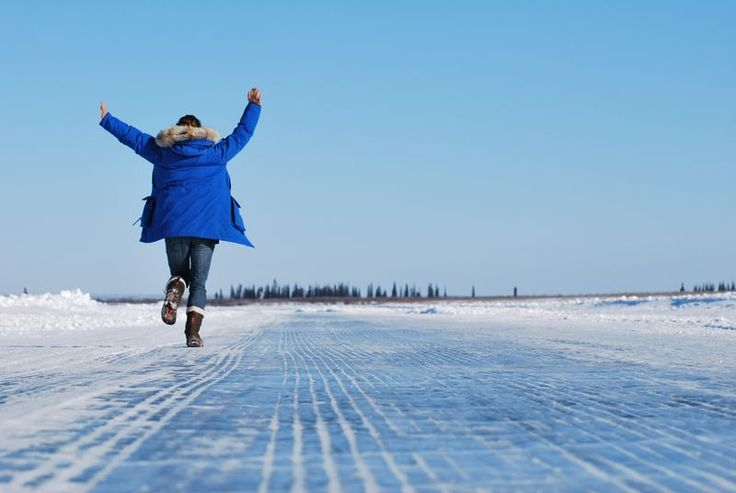 Running on the Ice Road.