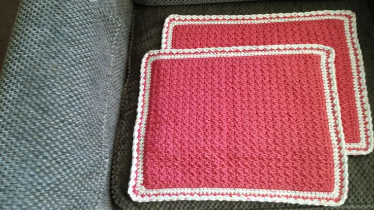 Pink Cotton made Placemats.