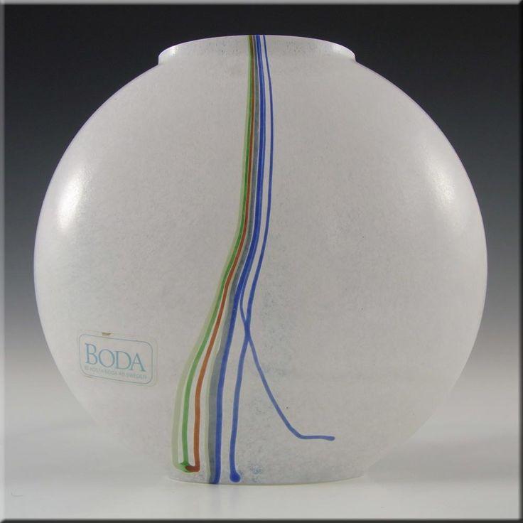 Kosta Boda Glass Rainbow Vase Signed Bertil Vallien