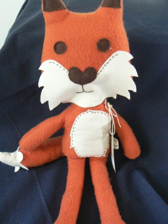 Fleecy Fox Plush Doll available at www.etsy.com/lizziedoodlesnz