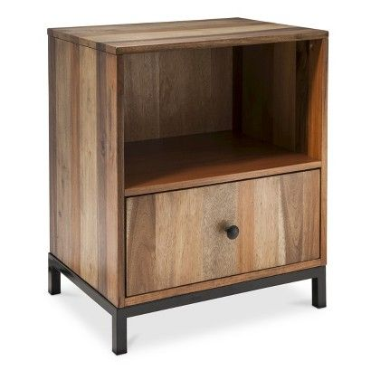 target bedside table asmara nightstand book storage modern bedside table and 13444