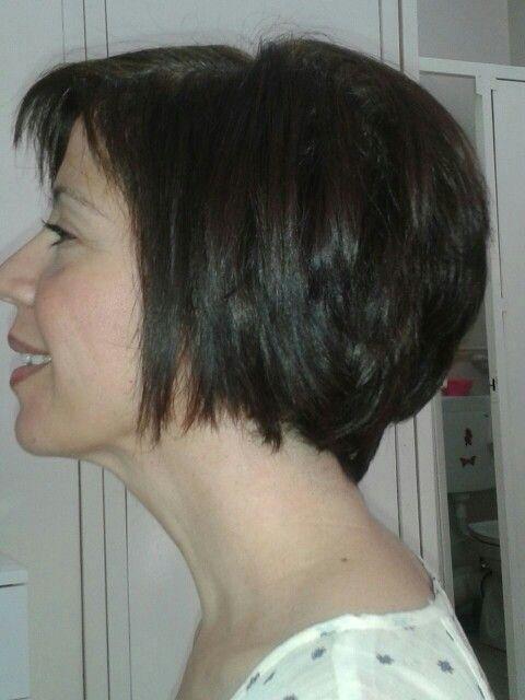 Asimetrik saç yan profil