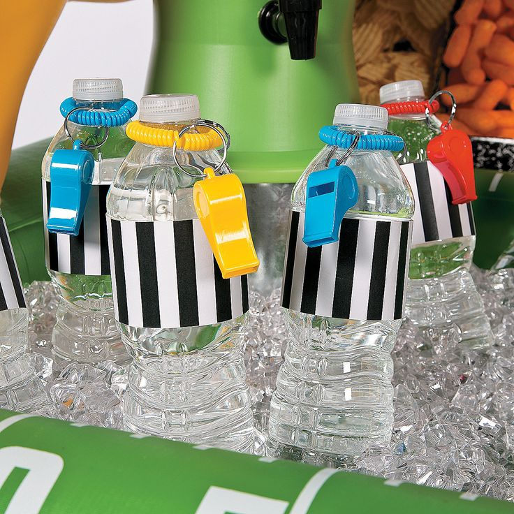 Referee Water Bottle Favor Idea with Free Printable - OrientalTrading.com
