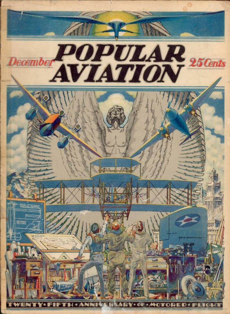 Flying Magazine's December 1928 Cover #vintage #aviation #flying