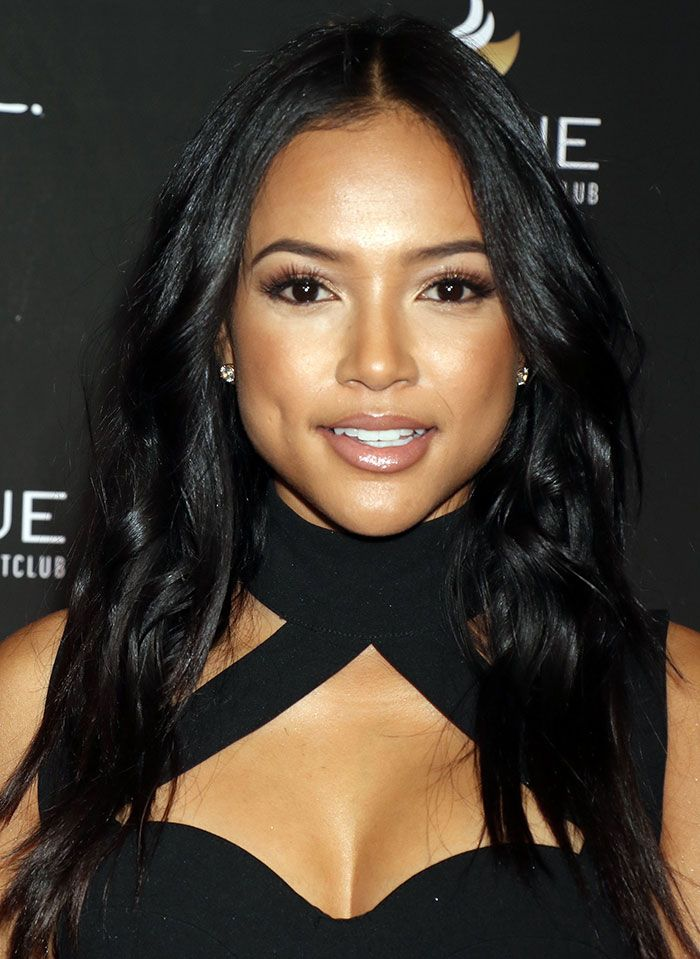Karrueche Tran at the grand opening of Intrigue Nightclub inside Wynn Hotel & Casino in Las Vegas on April 29, 2016