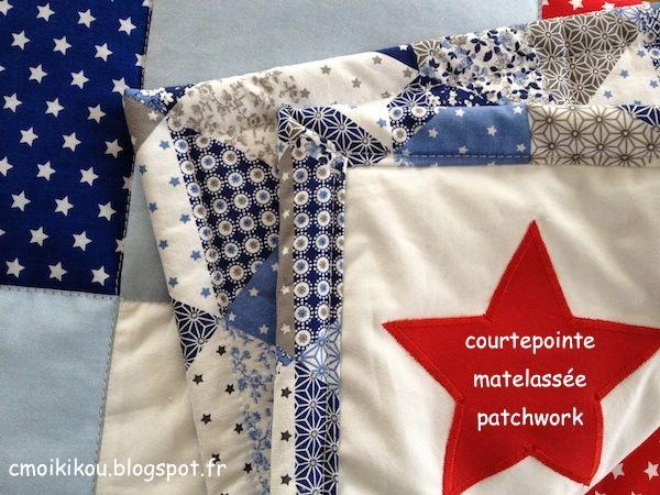 Quilting / Matelassage et Bordure : 2e Partie du DIY Tuto courtepointe patchwork matelassée