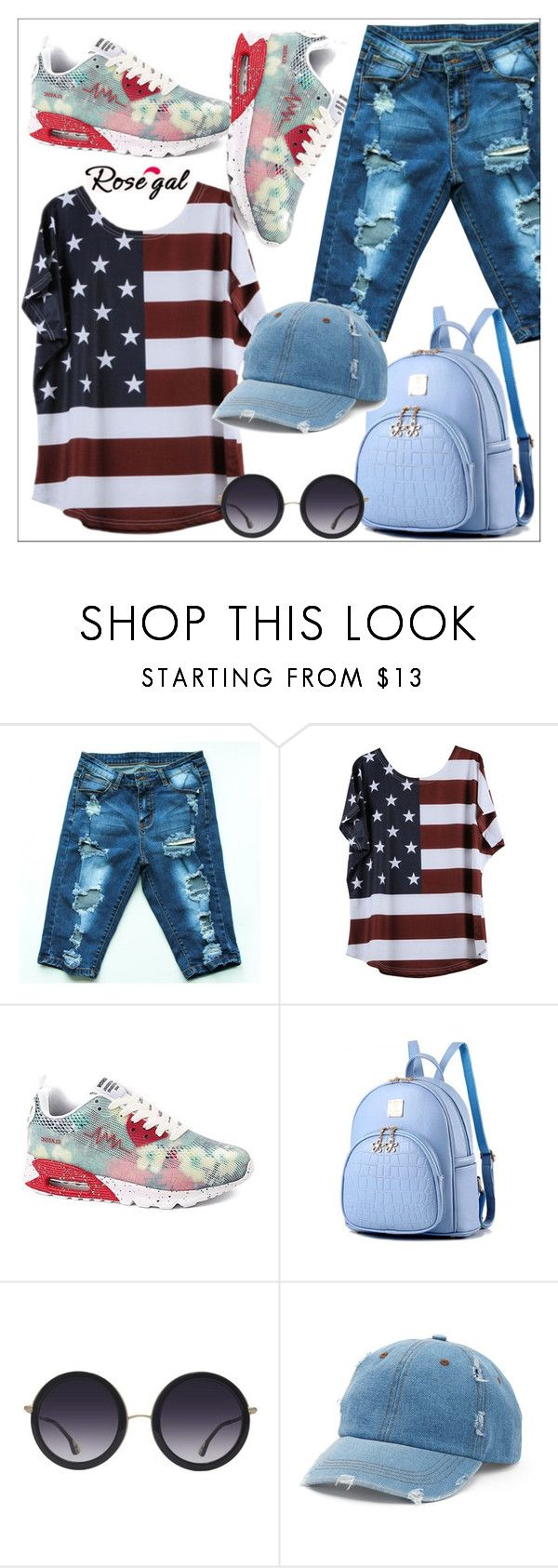 """""""Rosegal sporty look"""" by sabine-rose ❤ liked on Polyvore featuring Alice + Olivia, Mudd, Summer, Blue, beach and rosegal"""