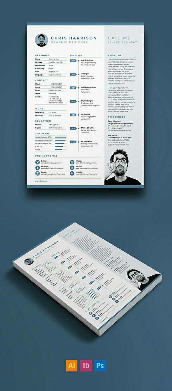 Chef Resume Sample%0A Free Resume Template for Adobe Illustrator  Indesign and Photoshop  Size