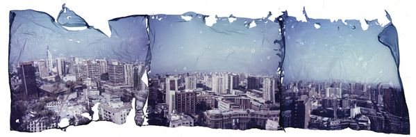 Polaroid Emulsion Lift by Lionel Muñoz, via Behance I want to try a panoramic project like this