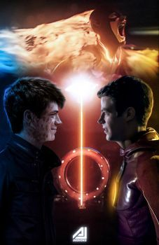 Future Flash (Savitar) Face To Face The Flash by ajay02