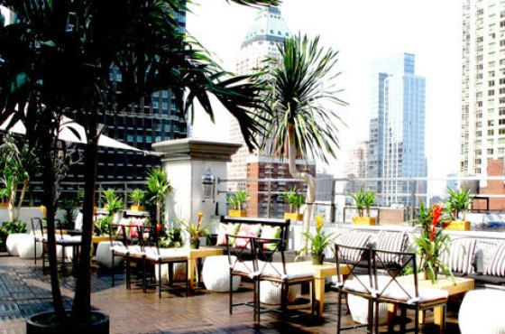 Rooftop bars in NYC  Booze with a view of New York at our favorite hotel-toppers and decks—from lounges with tough doors to affordable, no-hassle picks