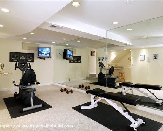 Home Gym Design Ideas Basement: Workout Rooms Design, Pictures, Remodel, Decor And Ideas