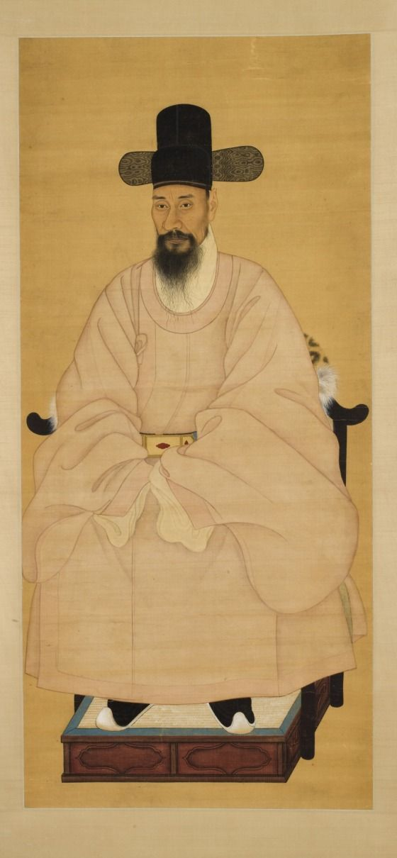 Portrait of a Scholar-Official in a Pink Robe -  Korea, Joseon dynasty (1392-1910), 19th century