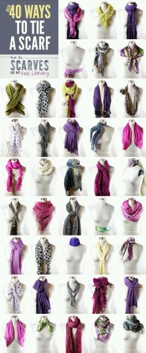 Ways to Tie Scarves-  Can I really pull these off I really love the look
