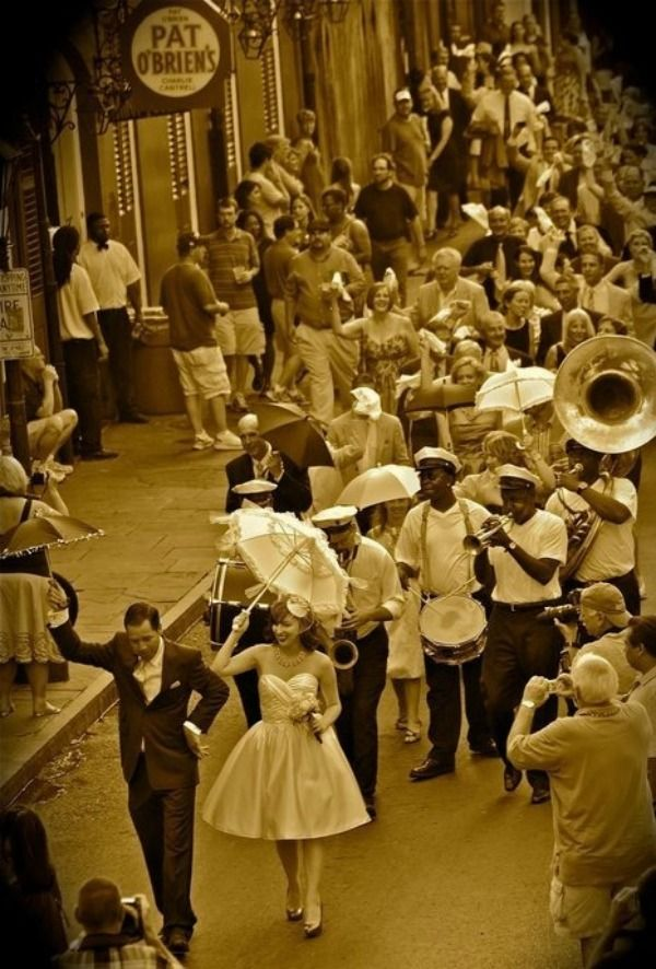 No point in getting married in new orleans if your not gunna Second-Line with a really big band !