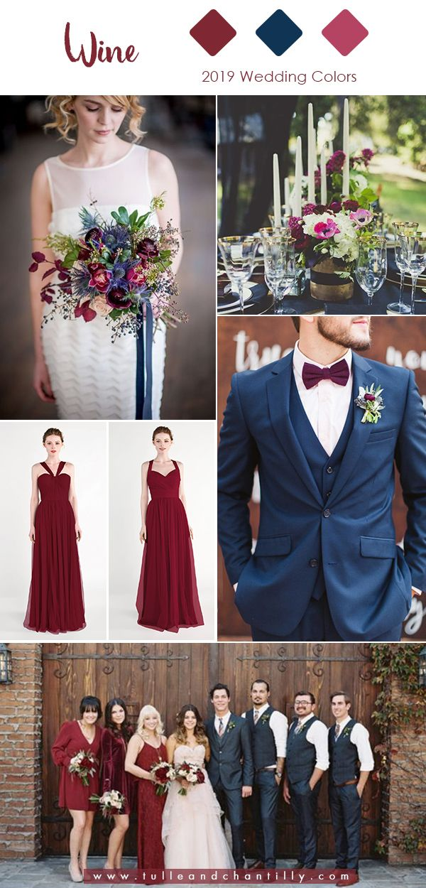 5dc01676ce7e6 Top 10 Wedding Colors for 2019 Trends with Bridesmaid Dresses in ...