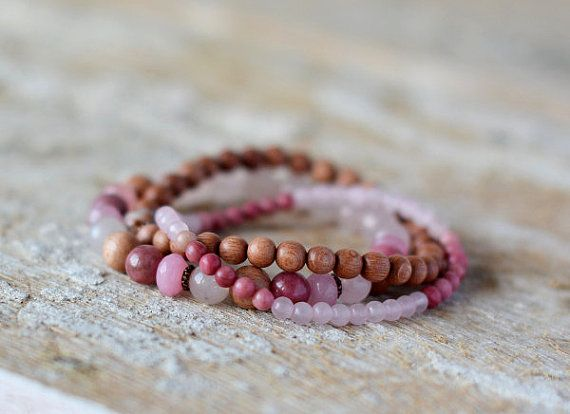Hey, I found this really awesome Etsy listing at https://www.etsy.com/listing/233378894/pink-set-bracelets-jasper-rhodonite